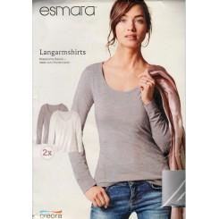 پک دوتایی تیشرت آستین بلند زنانه اسمارا | ESMARA
