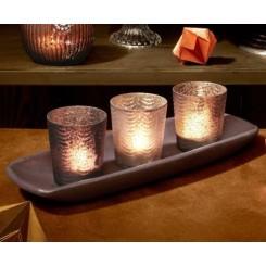 مجموعه 7 تکه شمع و جاشمعی چیبو | Tchibo