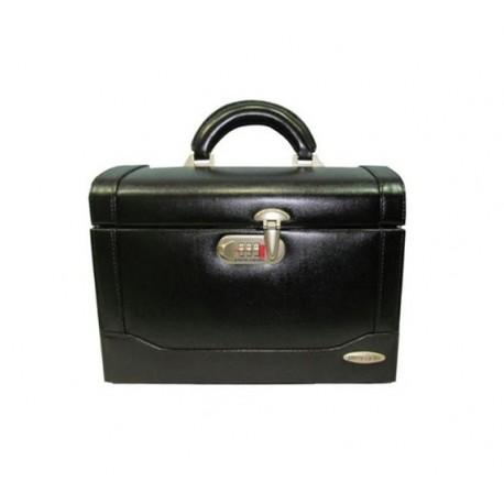 جعبه جواهرات و لوازم آرایشی رمزدار چرم پیرکاردین   Pierre Cardin