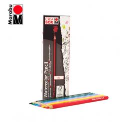 مجموعه 8 رنگ مداد آبرنگی مارابو کریا باکس |CREA BOX