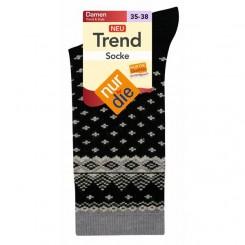 جوراب ساق بلند طرح دار زنانه نوردای | nurdie