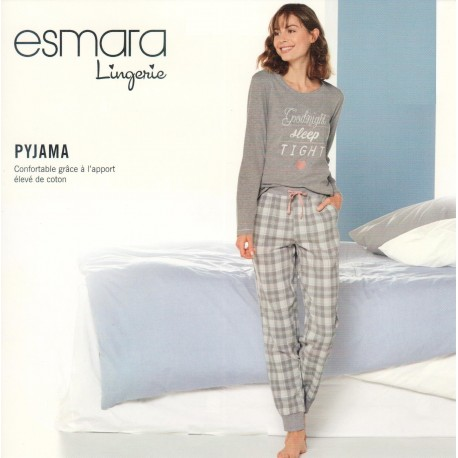 ست تیشرت و شلوار راحتی نقره ای زنانه اسمارا   ESMARA