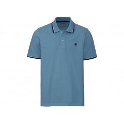 پلوشرت آستین کوتاه آبی رنگ مردانه لیورجی | LIVERGY