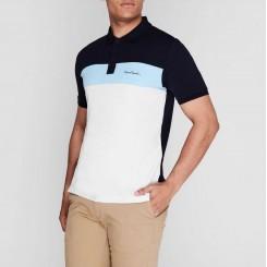 پلوشرت آستین کوتاه آبی روشن سرمه ای مردانه پیرکاردین | Pierre Cardin