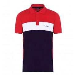 پلوشرت آستین کوتاه قرمز سرمه ای مردانه پیرکاردین | Pierre Cardin