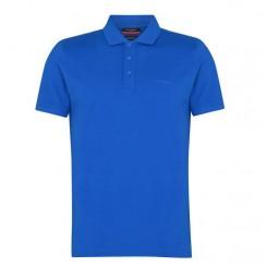 پلوشرت آستین کوتاه آبی نفتی مردانه پیرکاردین   Pierre Cardin