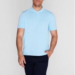 پلوشرت آستین کوتاه آبی آسمانی مردانه پیرکاردین | Pierre Cardin