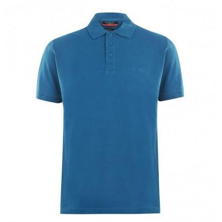 پلوشرت آستین کوتاه آبی کبود مردانه پیرکاردین | Pierre Cardin