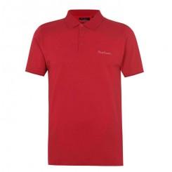 پلوشرت آستین کوتاه قرمز مردانه پیرکاردین | Pierre Cardin