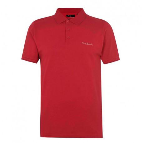 پلوشرت آستین کوتاه قرمز مردانه پیرکاردین   Pierre Cardin
