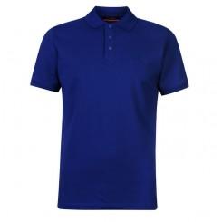 پلوشرت آستین کوتاه آبی کاربنی مردانه پیرکاردین | Pierre Cardin