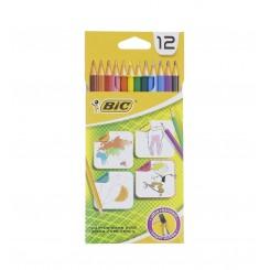 مداد رنگی 12 رنگ مدل شش ضلعی بیک | BiC