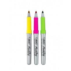 مجموعه 3 رنگ ماژیک شبنما پرمننت بیک | BiC