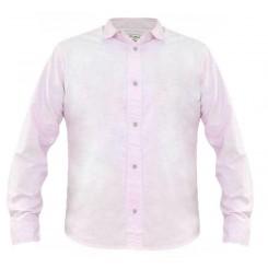 پیراهن کتان آستین بلند صورتی مردانه جک ساوت | JACK SOUTH