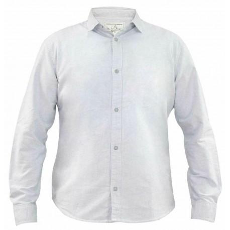 پیراهن کتان آستین بلند طوسی روشن مردانه جک ساوت | JACK SOUTH