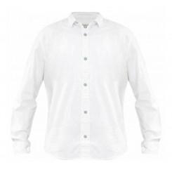 پیراهن کتان آستین بلند سفید مردانه جک ساوت | JACK SOUTH
