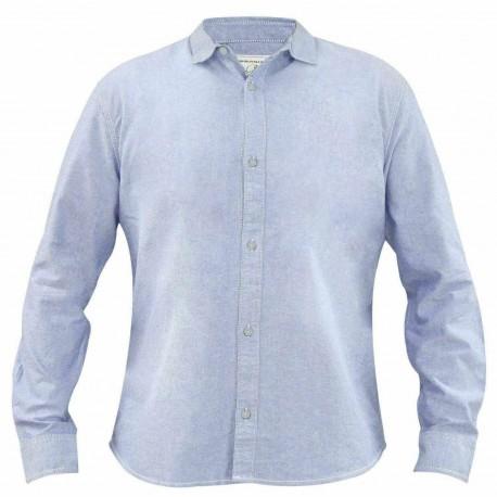 پیراهن کتان آستین بلند آبی تیره مردانه جک ساوت | JACK SOUTH