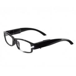 عینک مطالعه LED دار با فریم مشکی براق آریول | AURIOL