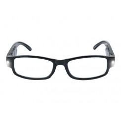 عینک مطالعه LED دار با فریم مشکی مات آریول | AURIOL