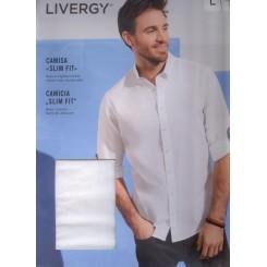 پیراهن اسلیم فیت سفید مردانه لیورجی | LIVERGY
