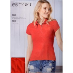 پلوشرت آستین کوتاه قرمز رنگ زنانه اسمارا   ESMARA