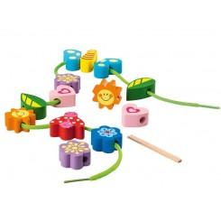 مجموعه 16 تکه بازی چوبی مدل نخ و مهره پلی تیو جونیور | PLAYTIVE JUNIOR