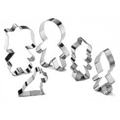 پک 5 عددی کاتر کوکی مدل خانواده آدمک چیبو | Tchibo