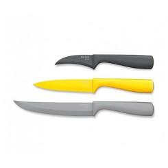 ست 3 پارچه چاقو آشپزخانه استیل چیبو | Tchibo