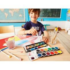 مجموعه 25 رنگ آبرنگ به همراه پالت و قلم یونایتد آفیس | UNITED OFFICE