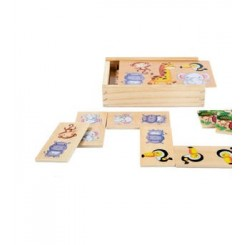 مجموعه 16 تکه بازی چوبی دومینو پلی تیو جونیور   PLAYTIVE JUNIOR