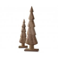 مجموعه دو عددی مجسمه چوبی درخت کاج چیبو | Tchibo