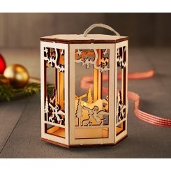 فانوس چوبی با شمع LED طرح آنجل چیبو | Tchibo