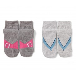 پک 2 عددی جوراب ساق بلند طرح دار زنانه چیبو | Tchibo