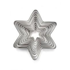 پک 11 عددی کاتر استیل طرح ستاره چیبو | Tchibo