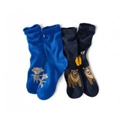 پک 2 عددی جوراب ساق بلند طرح حیوانات جنگل بچه گانه چیبو | Tchibo