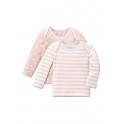 پک دو عددی تیشرت نخی نوزادی دخترانه چیبو | Tchibo