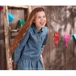 پیراهن جین کاغذی دخترانه چیبو |TChibo
