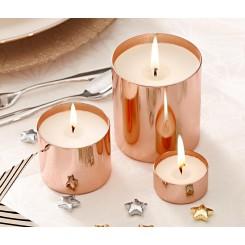 ست سه عددی شمع و جاشمعی فلزی چیبو | Tchibo