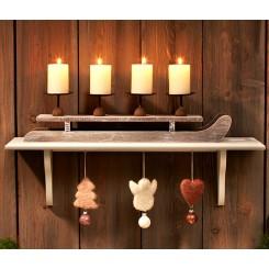 پک 4 عددی شمع و جا شمعی طرح سورتمه چیبو | Tchibo